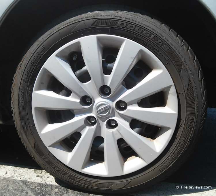 Douglas Xtra Trac II tire on a Nissan Leaf