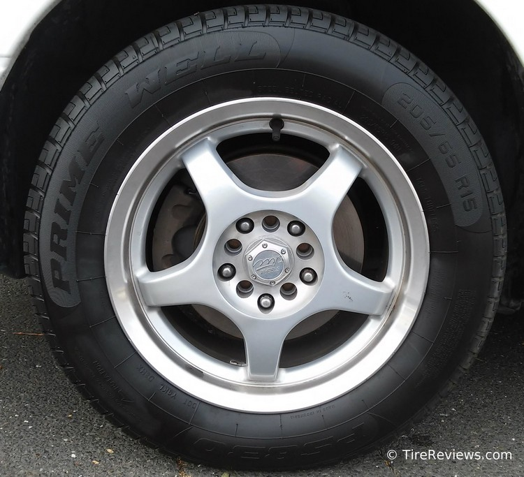 Primewell PS830 tire on a Toyota Camry